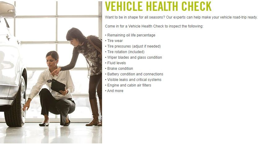 GM Service Specials Vehicle Health Check