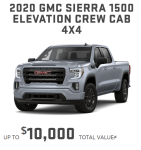 2020_GMC_Sierra_1500 April Specials Offers for GMC Ontario