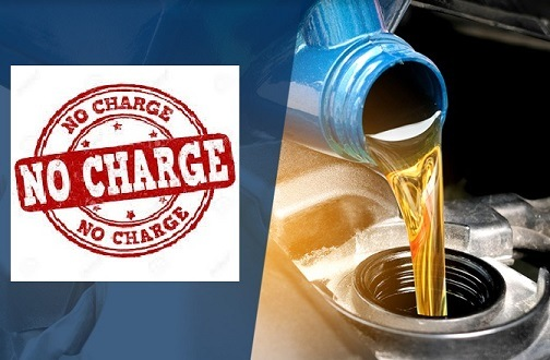 Free No Charge Oil and Filter Change In Toronto